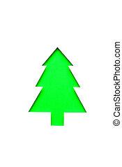 手, 切口, 緑, クリスマスツリー