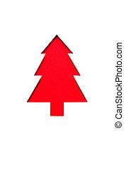 手, 切口, 赤, クリスマスツリー