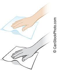 手, 变量, 碎布, 二, 妇女` s