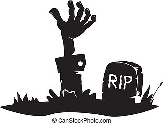 手, 坟墓, 到达