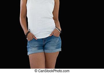 手, 女性の 地位, ポケット