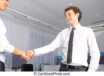 手, 女性ビジネス, オフィス, 人, 動揺