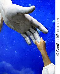 手, 子供, 像, 保有物, イエス・キリスト