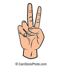 手, 平和, 芸術, ポンとはじけなさい, 印