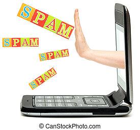 手, 從, the, 電話, 停止, 發送同樣的消息到多個新聞組, 詞