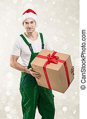 手, -, 急使, 贈り物の箱