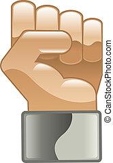 手, 拳头, 力量, clipart, 图标