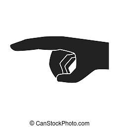 手, 指を 指すこと