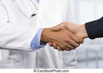 手, 振動, 患者, 医者