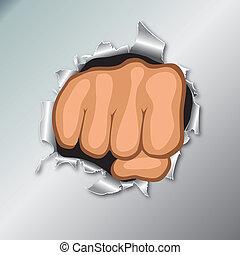 手。, 握緊拳頭