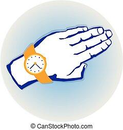 手, 時計
