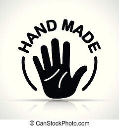 手, 概念, 设计, 图标, 做