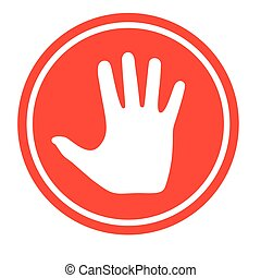 手。, 止まれ, 人間, 印