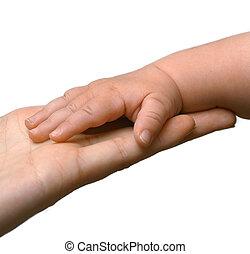 手, 母, 父, 家族, 手
