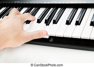 手, 演奏鋼琴