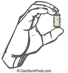 手, 由于, 小時玻璃