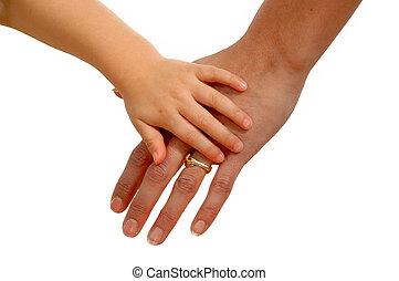 手, ......的, 母親和孩子