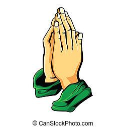 手, 祈とう