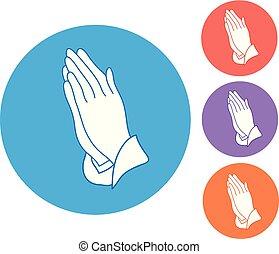 手, 祈ること, アイコン