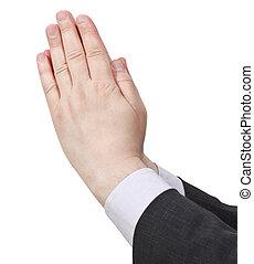 手, 祈ること, -, ジェスチャー, 手