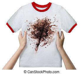 手 藏品, 骯髒, 襯衫