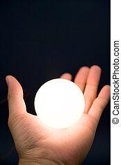 手 藏品, a, 明亮, 球