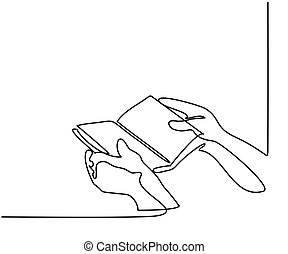 手, 藏品, the, 聖經, 書