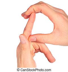 手, 表す, 手紙, r, から, アルファベット