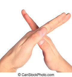 手, 表す, 手紙 x, から, アルファベット