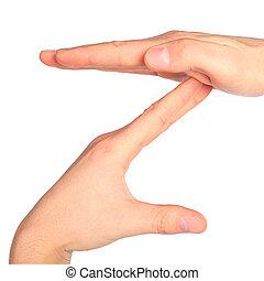 手, 表す, 手紙, z, から, アルファベット