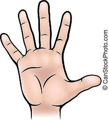 手, 身体部分