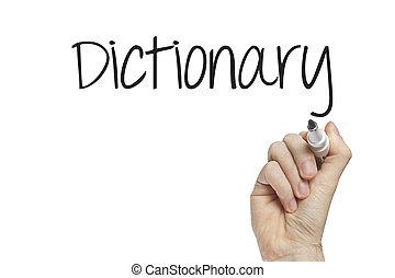 手, 辞書, 執筆
