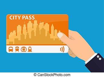 手, 都市, pass.