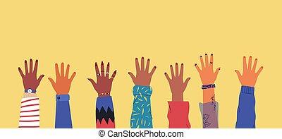 手, 02, 一緒, 多様性