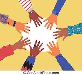 手, 03, 一緒, 多様性
