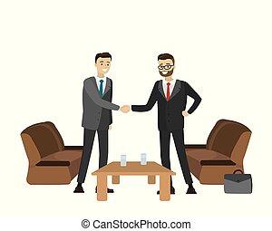 手, 2, ビジネスマン, 振動