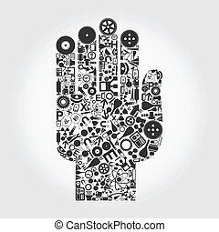 手, a, 科學