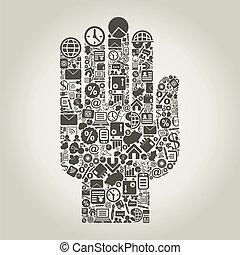 手, business3