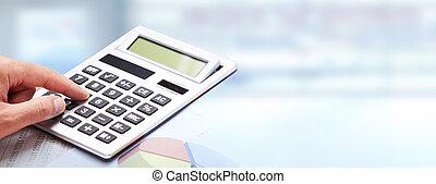 手, calculator.