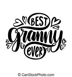 手, ever., 畫, 奶奶, phrase., 最好, 字母