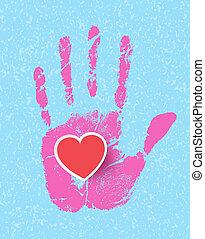 手, hearts.