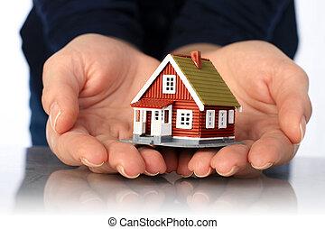 手, house., 小さい