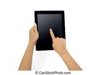 手, ipad, アップル