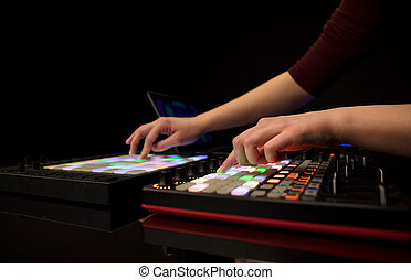 手, midi, 混合音乐, 控制器
