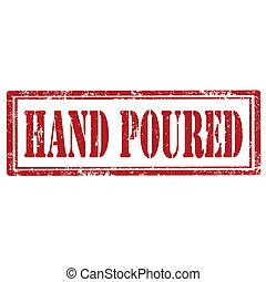 手, poured-stamp