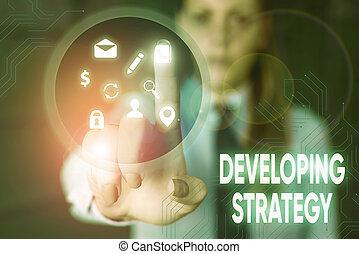 手, strategy., ビジネス, 写真, objectives., 概念, テキスト, 特定, 執筆, ゴール, 成長, 計画, セット, ゲーム, 提示