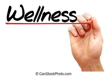 手, wellness, 執筆, 概念
