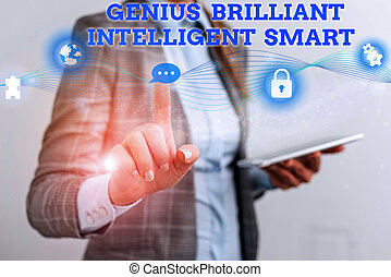 才知に長けている, 女性, 仕事, 執筆, 提出すること, 知性, ビジネス, 単語, スーツ, 明るい, 形式的, smart., 利発, 知識, 痛みなさい, 概念, 理性的, プレゼンテーション, テキスト, ウエア, device., 使用, 人間, 天才