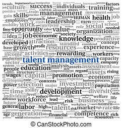 才能, 管理, 単語, 雲, タグ