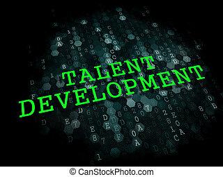 才能, development., 教育, concept.